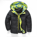 2016 Children's Winter Jackets Boys Girls Down Parkas Kids Hooded Coats 4-11Y Children's Thicken Thermal Outerwear Outdoor SC592