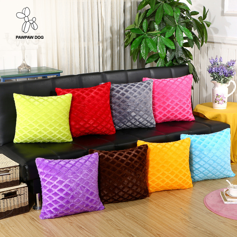 Living Room Cushion Cover Square 45*45 Home Textile Supplies Plush Multicolor Casual Seat Pad Travel Back Support Cushion Sofa ...