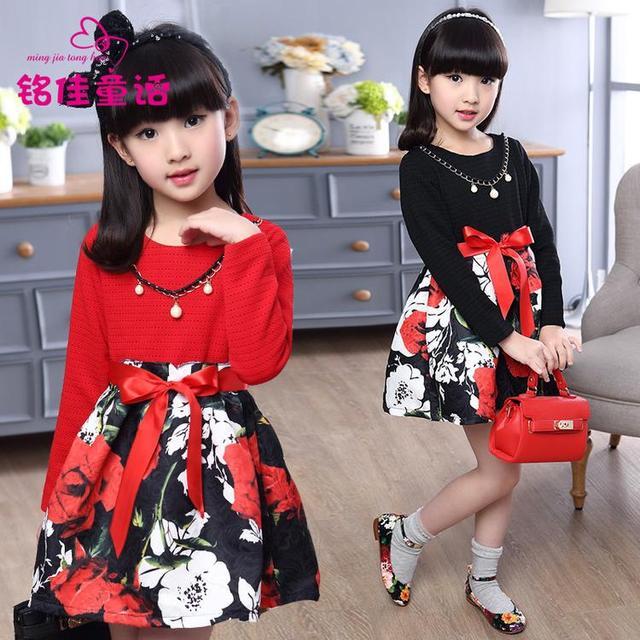 baru fashion anak anak korea pasang perempuan besar gadis musim gugur baju pakaian
