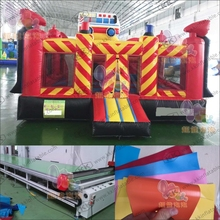 School Bus Inflatable Combo Jumping Bouncer for Kids