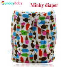 Winter diaper waterproof minky printed pul fabric super soft fabric baby pocket cloth diaper baby nappy