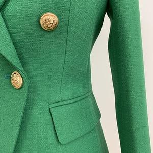 Image 4 - 높은 품질 새로운 패션 2020 활주로 디자이너 블레 이저 자 켓 여성 사자 단추 더블 브레스트 짠 블레 이저 자 켓