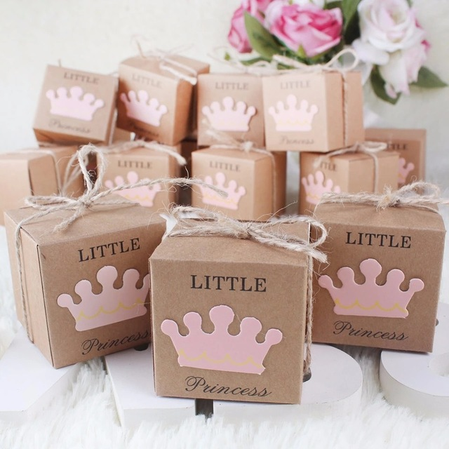 100pcslot Princess Prince Baby Shower Birthday Favor Gift Candy