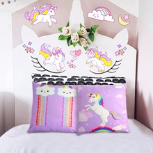 OurWarm Unicorn Emoji Cushion Themed Party  Throw Pillow Covers Slumber Gifts for Children