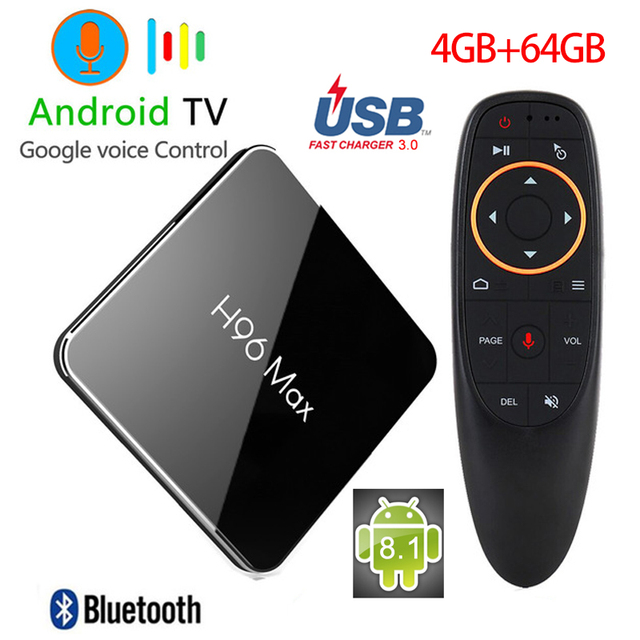 tv box android 8.1 4gb 64 gb ddr4  H96 Max X2 TV BOX Android 8.1 Amlogic S905X2 Quad Core 4GB 64GB DDR4 ...