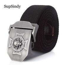 SupSindy homme Toile ceinture Crâne Croix en métal boucle de ceinture  militaire tactique Armée ceintures pour hommes de qualité . 37dc0fdfe4a