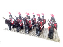 20pcs Dragon Knight A Cavalryman Minifigure compatible with  brand Building Block doll,Castle Knight Brick Decool figures