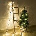 Novedad 38 unids Claro Bola 10 M LED Cadena Luces Del Adorno de la Boda de Cadena de Navidad Decoración de Vacaciones Luz al aire libre Patio de Luces