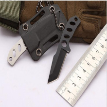 Knife mini outdoor survival tactical hunting portable self-defense necklace small knives fruit cutter open box letter