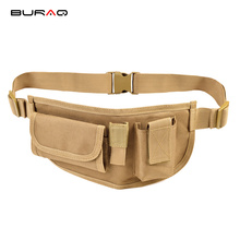 BURAQ Nylon Oxford Waist BagTravel Running Waist Pouch Military Tactical Belt Bags Sport Fanny Pack Outdoor Pocket Camouflage