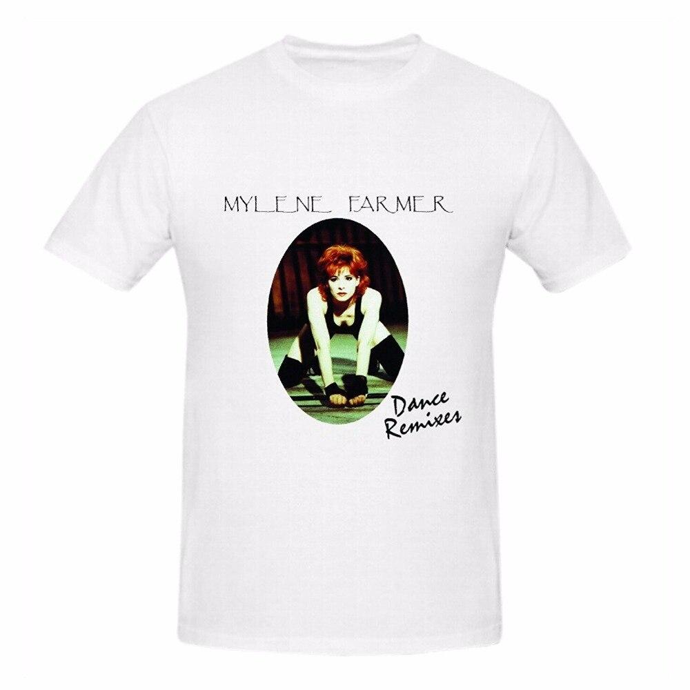 2017 последние смешно Для мужчин с круглым вырезом Милен Фармер танец ремиксы футболка с короткими рукавами