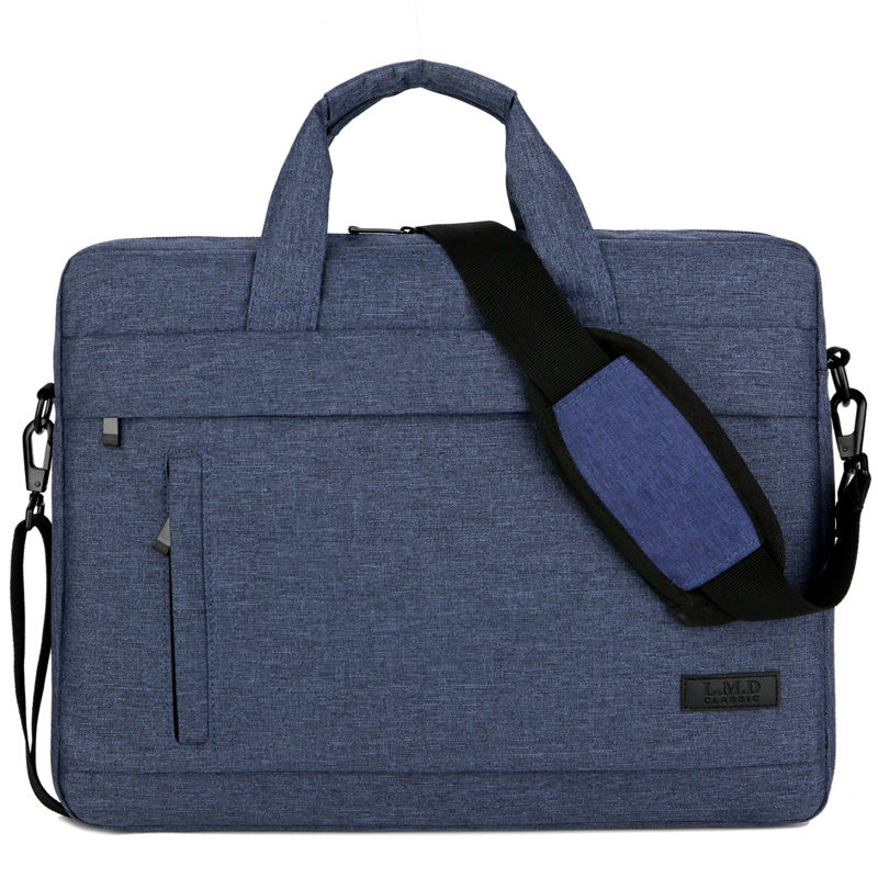 Portable Canvas A4 File Folder Document Bag Business Briefcase Durable Handbag Travel File Computer Stationery Storage Organizer