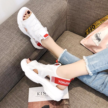2019 summer new sandals women's shoes thick platform fish mouth casual sandals sneakers shoes beach shoes soft bottom NY-22