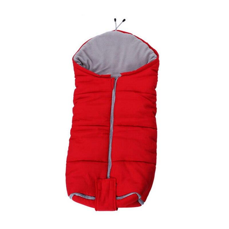Hiver bébé courtepointes sac de couchage pour poussette couverture infantile sac de couchage nouveau-né sacs de nuit chaud mousseline coton bébé sommeil nid