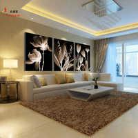 Современные 3 панели холст абстрактная картина маслом Модульная картина настенная художественная картина для гостиной HD печать цветы карт...