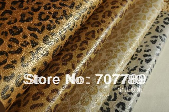 Wallpaper Faux leather leopard print vinyl backdrop tapete room ...