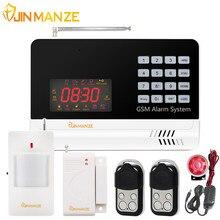 6120G Wireless Home Security GSM Sistema de Alarme APP Controle Remoto PIR Sensor De Porta Sensor De Alarme de Segurança Voz Russo Espanhol