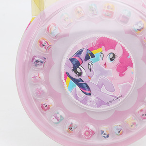 Image 5 - New My Little Pony Toys PVC Pony Stickers Pack Children Girl Nail Stickers Removable 3D Rainbow Dash Twilight Sparkle Pinkie Pie