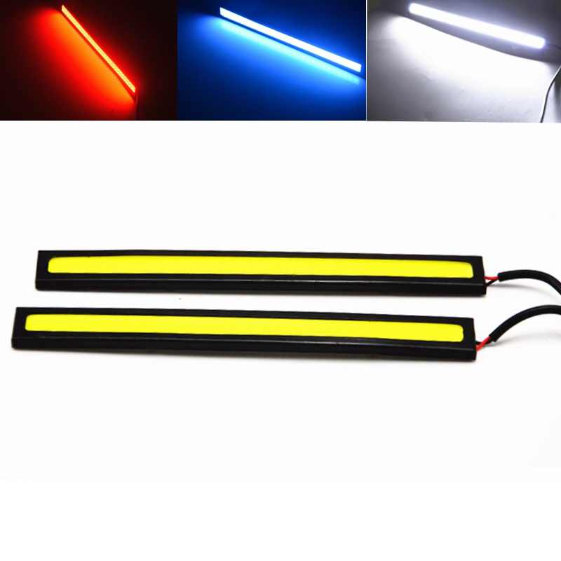 17CM Car LED COB DRL Daytime Running Light Waterproof 12V External Led Car Light Source Parking Fog Bar Lamp White Blue Red