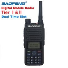 Walkie walkie taklie DM 1801 dmr baofeng, rádio digital de duas vias, modo duplo, tier i/ii banda dupla vhf uhf 5w