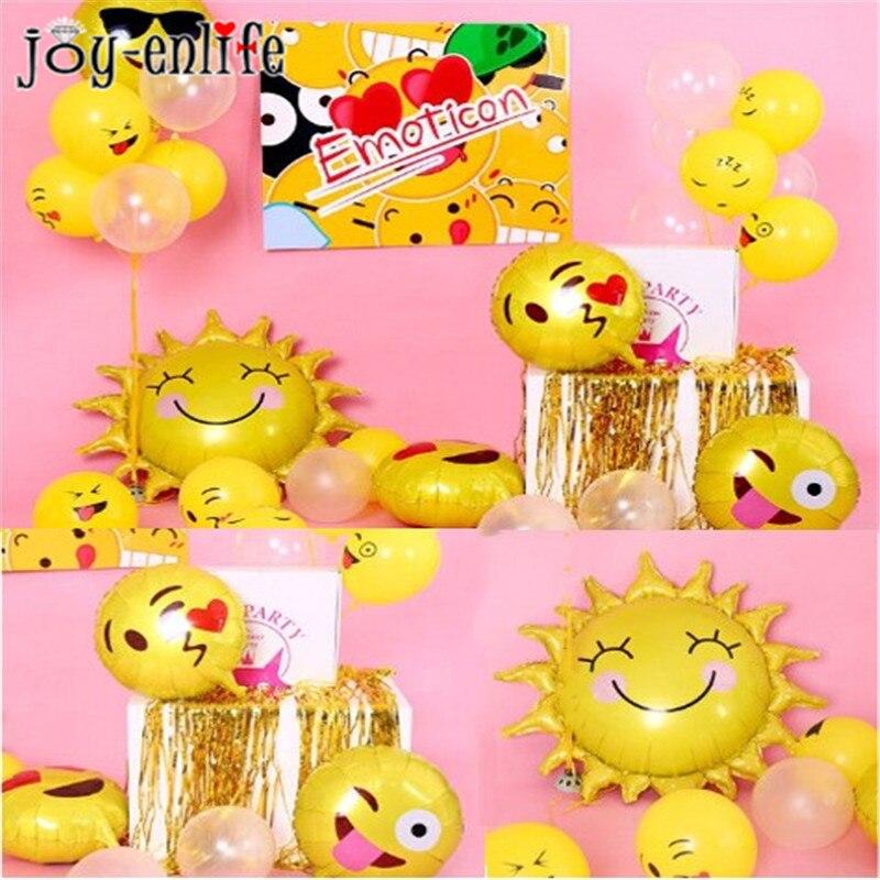 JOY-ENLIFE Emoji Balloons Face Expression Foil Ballon Air Globos Birthday Party Wedding Baby Shower Decoration Ballons Kids Toy