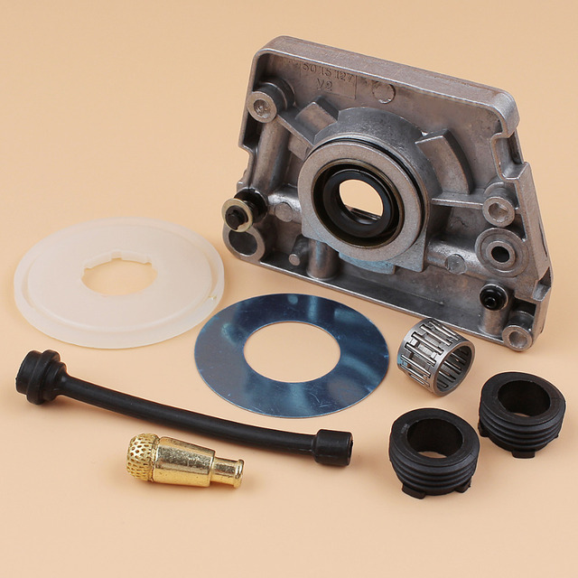 Oil Pump Worm Gear Dust Cover Washer Hose Filter Kit Fit HUSQVARNA 61 66 266 268 272 XP 266XP 268XP 272XP Chainsaw Parts