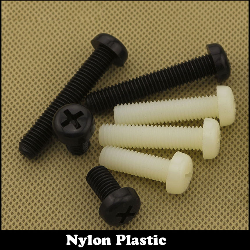 M5 M5*25 M5x25 M5*30 M5x30 M5*35 M5x35 White Black Nylon Plastic Bolt Insulate Philips Cross Recessed Flat Round Pan Head Screw 5% 25