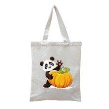 b30e6a87c Classy canvas panda tote bag bucket bag lady barrel-shaped round canvas bag  Party striped