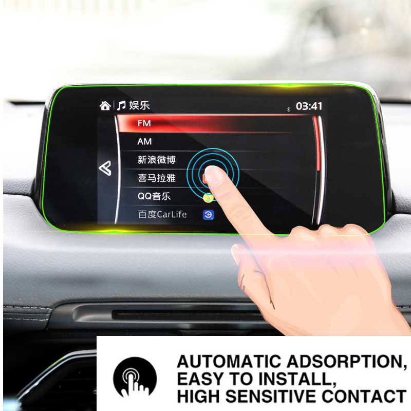 For <font><b>Mazda</b></font> CX-5 <font><b>CX5</b></font> CX 5 2017 2018 2019 Tempered Glass Car <font><b>Navigation</b></font> Screen Protector Touch Display Screen film Anti Scratch image