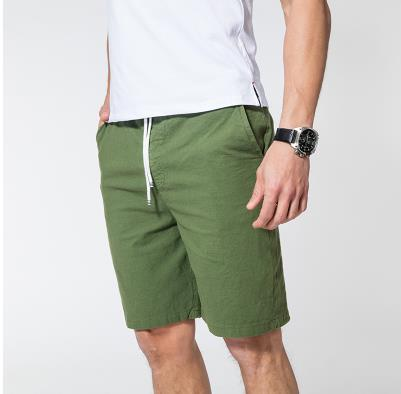Мужские летние плюс Размеры эластичный пояс середине Повседневное Капри прямого кроя человек дышащий Лен свободные штаны Для мужчин более Размеры d обтягивающие брюки - Цвет: 7