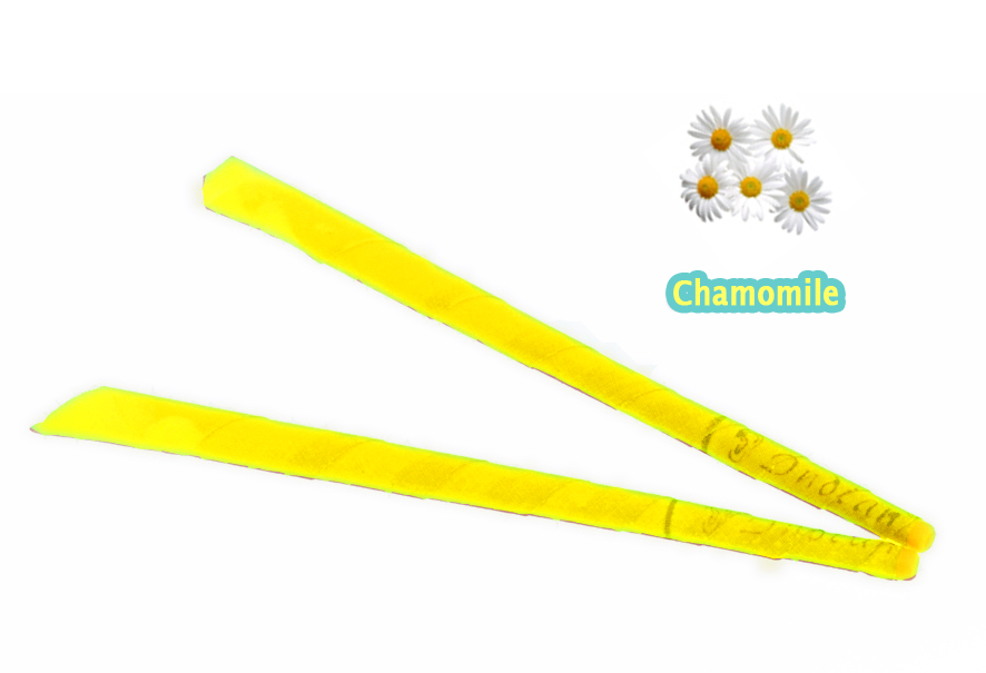 51 pairs 102 pcs CE qualified smoke free Chamomile trumpet indian beewax ear candle with protective