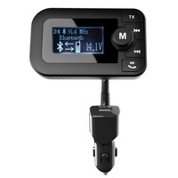 Geyiren Беспроводной FM передатчик Bluetooth Car Kit Радио приемник с 2.0 дюймов Дисплей автомобиля Зарядное устройство Hands-Free автомобилей