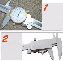 2016 Best  0-150mm/0.02 Dial Caliper Shock-proof Metal Vernier Caliper Metric Micrometer Gauge Measuring Tool