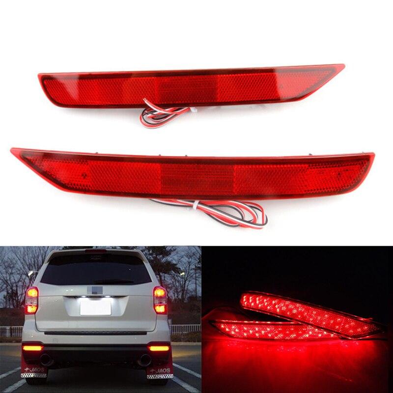 Niscarda 2 PCS Para Subaru Forester 2008-2017 LEVOU Choques Refletor Traseiro de Condução da Luz Do Carro Vermelho Freio Nevoeiro Guarnição moldagem Lâmpada de Cauda