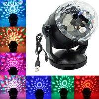 ZINUO בקרת קול RGB מנורות מופעלת סוללה LED שלב קריסטל Magic Ball לייזר מקרן דיסקו שלב אפקט אור