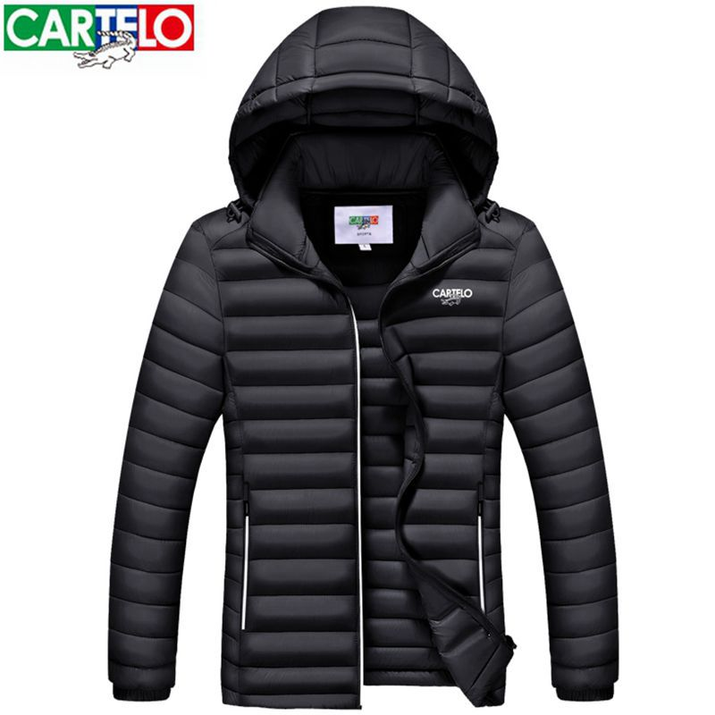 ФОТО Cartelo brand 2017 fashion top new mens winter parka JACKET cotton Hooded men's warm COAT parkas napapijri jacket men clothing