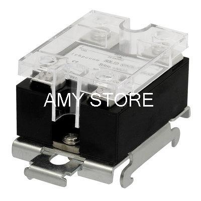 цена на DC 3-32V to AC 24-480V 120A Temperature Control DIN Rail Mount SSR Solid State Relay SSR-120DA