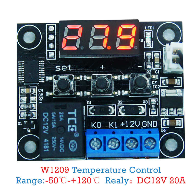 W1209 LED Digital Thermostat Temperature Control Thermometer Thermo Controller Switch Module DC 12V Waterproof NTC Sensor