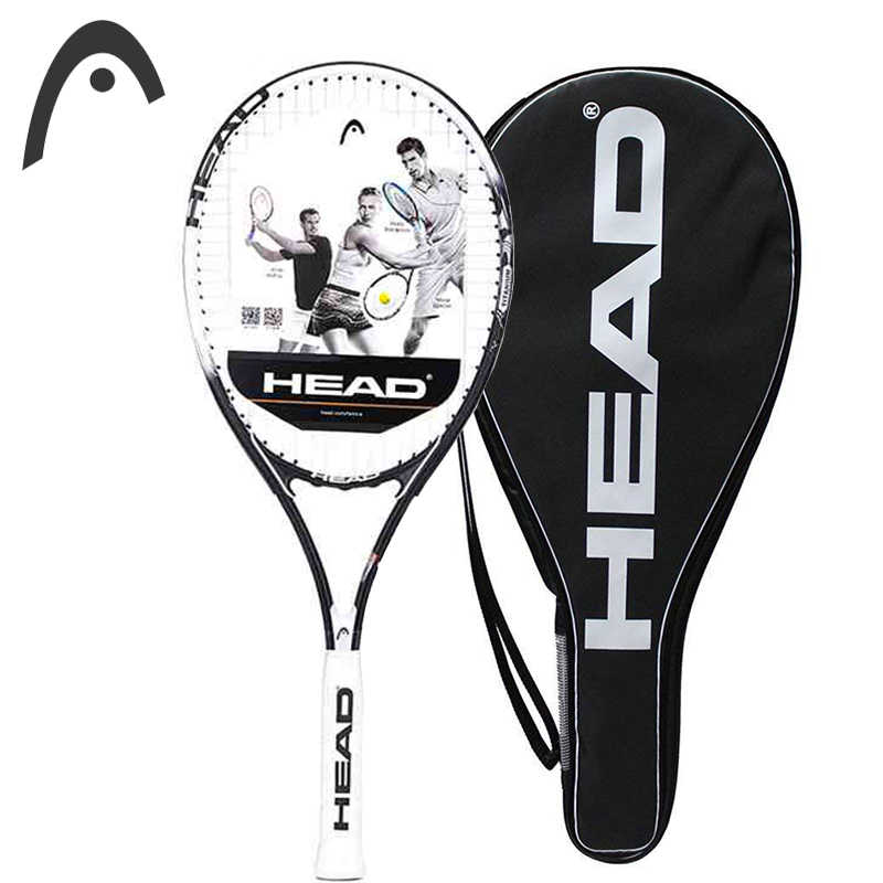 Professional HEAD Tennis Racket Large With Tennis Racket Sports Bag For Male Women Strings Are Fixed Well  Overgrip Padel Tenni