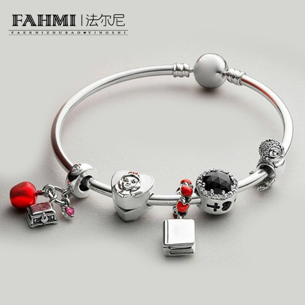 FAHMI 100% 925 Sterling Silver BIRD CHARM SNOW WHITES APPLE AND HEART HANGING CHARM 797167ENMX BOOK HANGING CHARM Bracelet SetFAHMI 100% 925 Sterling Silver BIRD CHARM SNOW WHITES APPLE AND HEART HANGING CHARM 797167ENMX BOOK HANGING CHARM Bracelet Set