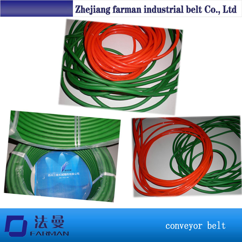 Dia 6mm pu green rough round drive belt green orange transparent pu round belt polyurethane drive belt smooth and rough surface for sale
