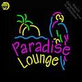 Неоновая вывеска для Paradise Lounge Parrot  неоновая лампа  ручной работы  трубки из настоящего стекла  украшение окон  пивная бар  светильник для паб...