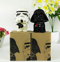 2pcs/set 2015 New Star Wars Figures toy Black Knight Darth Vader Stormtrooper PVC Action Figures DIY Educational TOYS