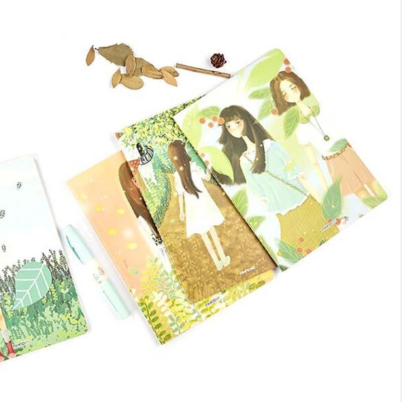 B5 Large Notebook Students Writing Copyook Planner Kawaii Kids Diary Stationary Notebook Gifts notebook season b5 18k26
