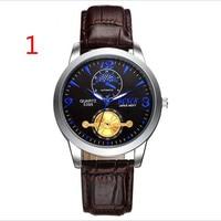 Мужские новые модные часы кожаный ремешок лаконичные повседневные Роскошные деловые наручные часы
