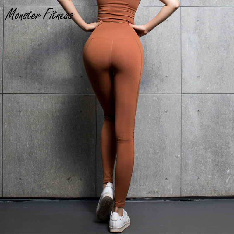 Monster 2018 Black Yoga Pants Sport Leggings High Waist Push Up Sexy Running Workout Sport Fitness Gym Leggings For Women women sport leggings 3d print football capris running active sportwear high waist pant sexy slim hip fitness jogger gym jeggings