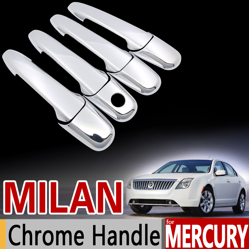 for Mercury Milan Luxurious Chrome Handle Cover Trim Set 2006 2007 2008 2009 2010 2011 2011 Car Accessories Sticker Car Styling