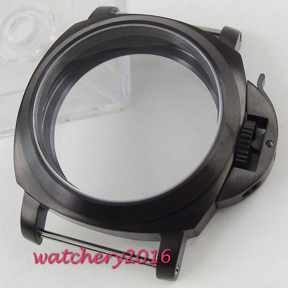 44mm parnis Black PVD นาฬิกาแข็งแปรง fit fit 6497 6498 ST 36 การเคลื่อนไหวคุณภาพสูงนาฬิกา-ใน null จาก นาฬิกาข้อมือ บน   1
