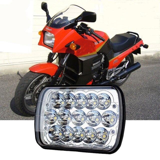 Marloo 1 adet motosiklet 7x6 inç dikdörtgen LED far H6054 H5054 H6054LL 69822 6052 6053 Jeep Cherokee için XJ kamyonlar (5x7)