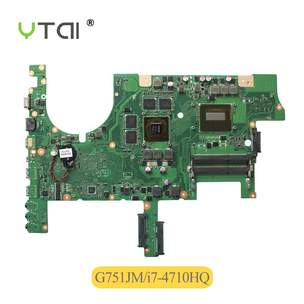 I7-4710HQ processeur pour ASUS G751J G751JY G751JT G751JS G751JM mère d'ordinateur portable REV2.2 i7-4710HQ CPU USB3.0 carte mère